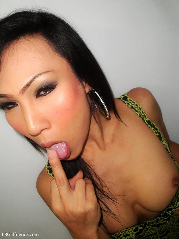 Asian T-Girl Asshole Smashed