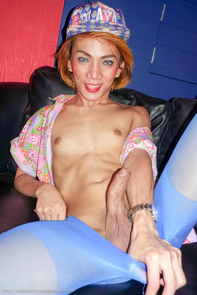 Awesome Ladyboy With Tinie Breasts And Little Penis Wants Your Cock In Her Throat