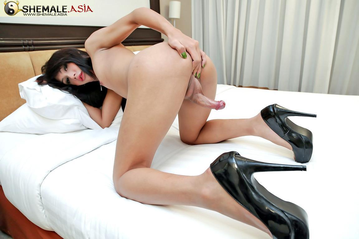 Cute T-Girl Exposing Her Tits