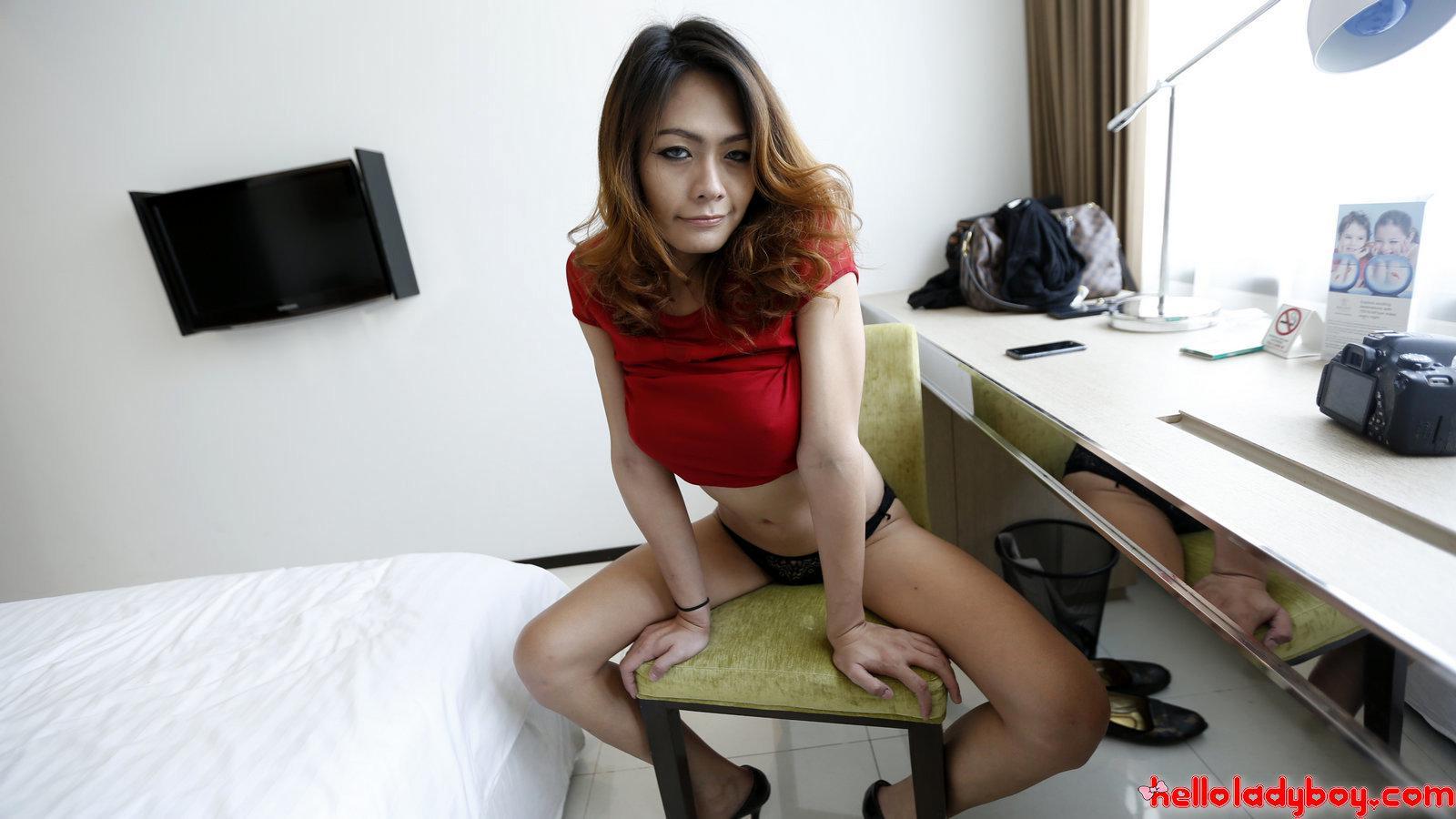 Depraved Asian T-Girl Whore Getting Her Butt Stuffed