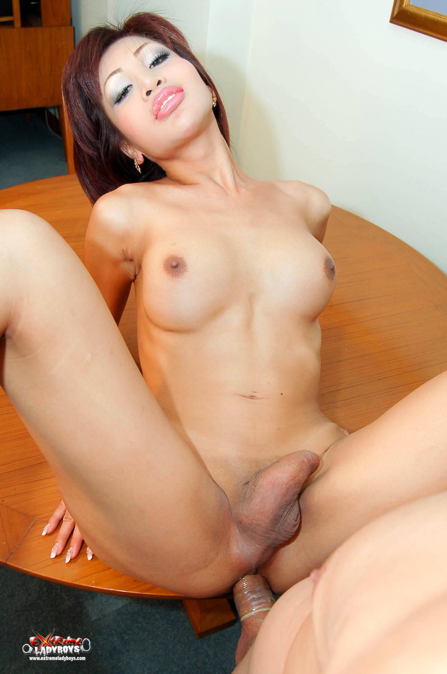 Depraved Asian Tgirl Bitch Getting Her Ass Stuffed