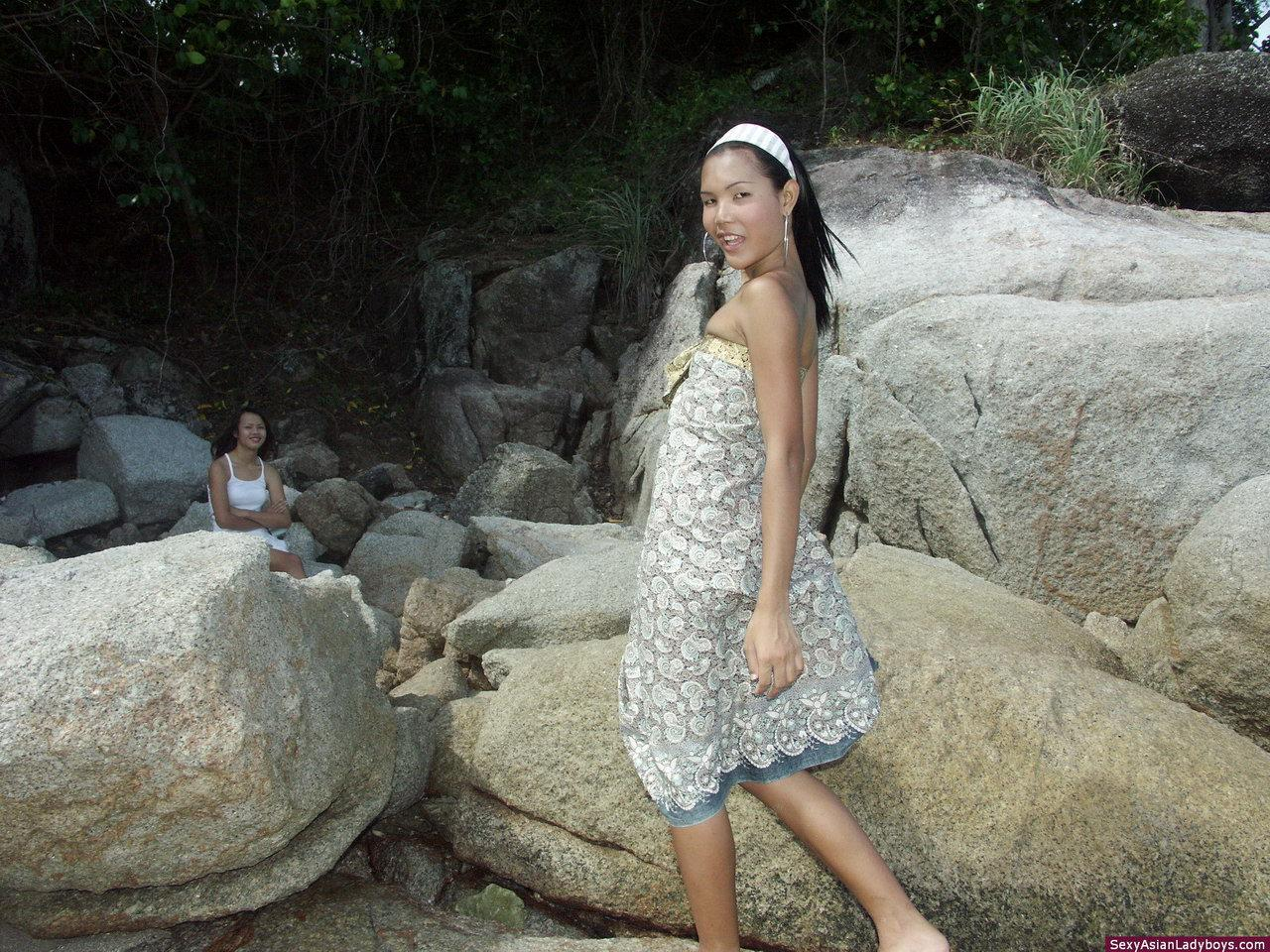 Little Tgirl Shows Her Skinny Figure