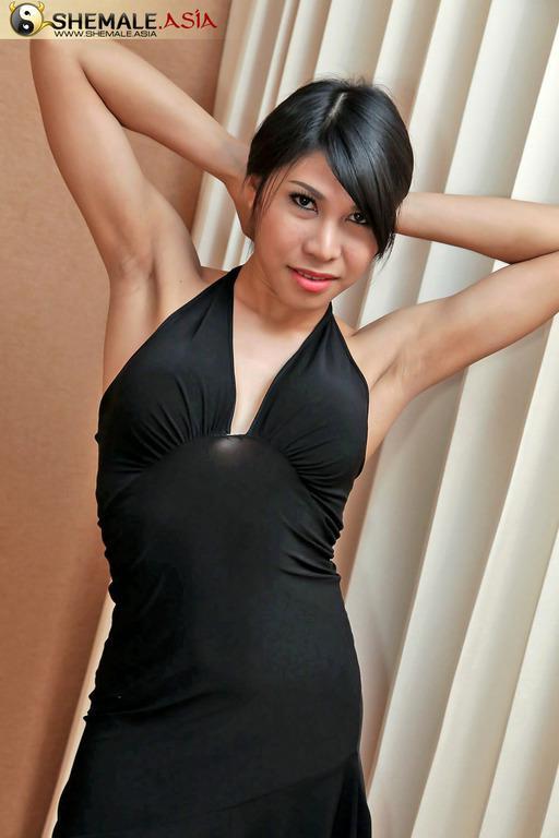 Thai Tgirl In Pink Posing
