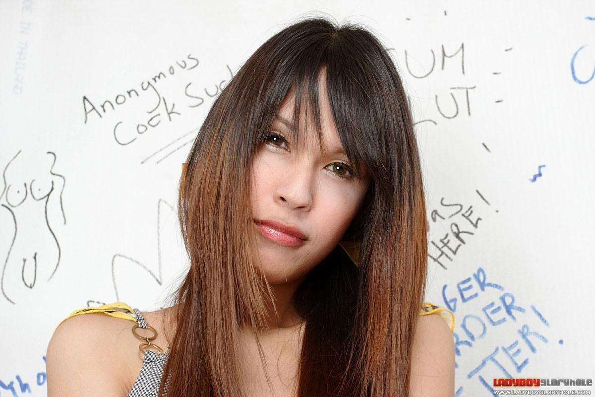 Tiny Tgirl Dildos Her Asian Teen Asshole