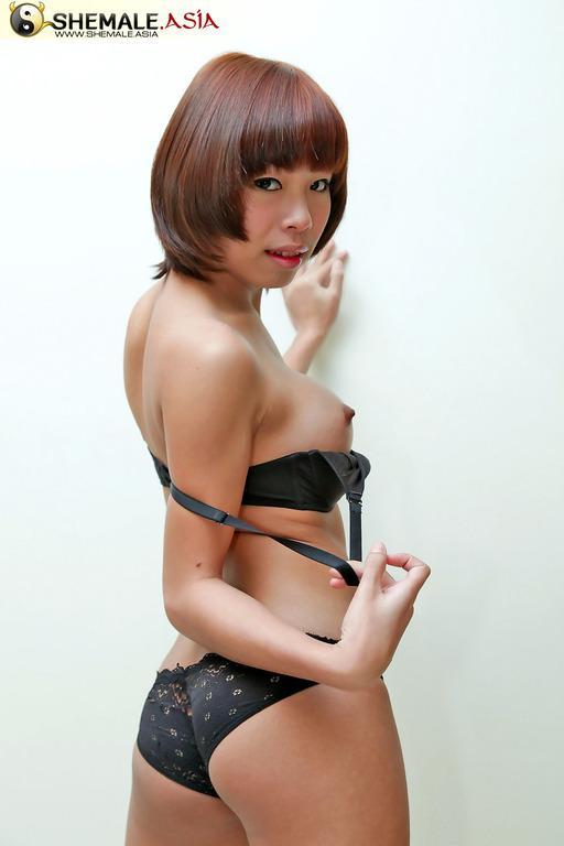 Tiny Tgirl Shows Her Slim Figure